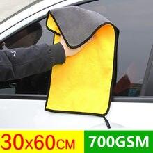 Cuidados com o carro que lustra toalhas de lavagem de microfibra de pelúcia toalha de secagem de lavagem de pano de limpeza de carro de fibra grossa forte