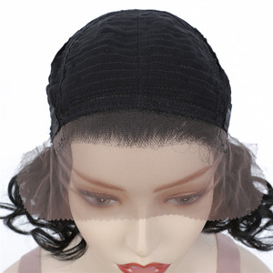 Image 5 - Perruque Lace Front Wig courte bouclée crépue, perruque frontale à dentelle synthétique, coiffure africaine, couleur marron ombré, X TRESS pour femmes noires