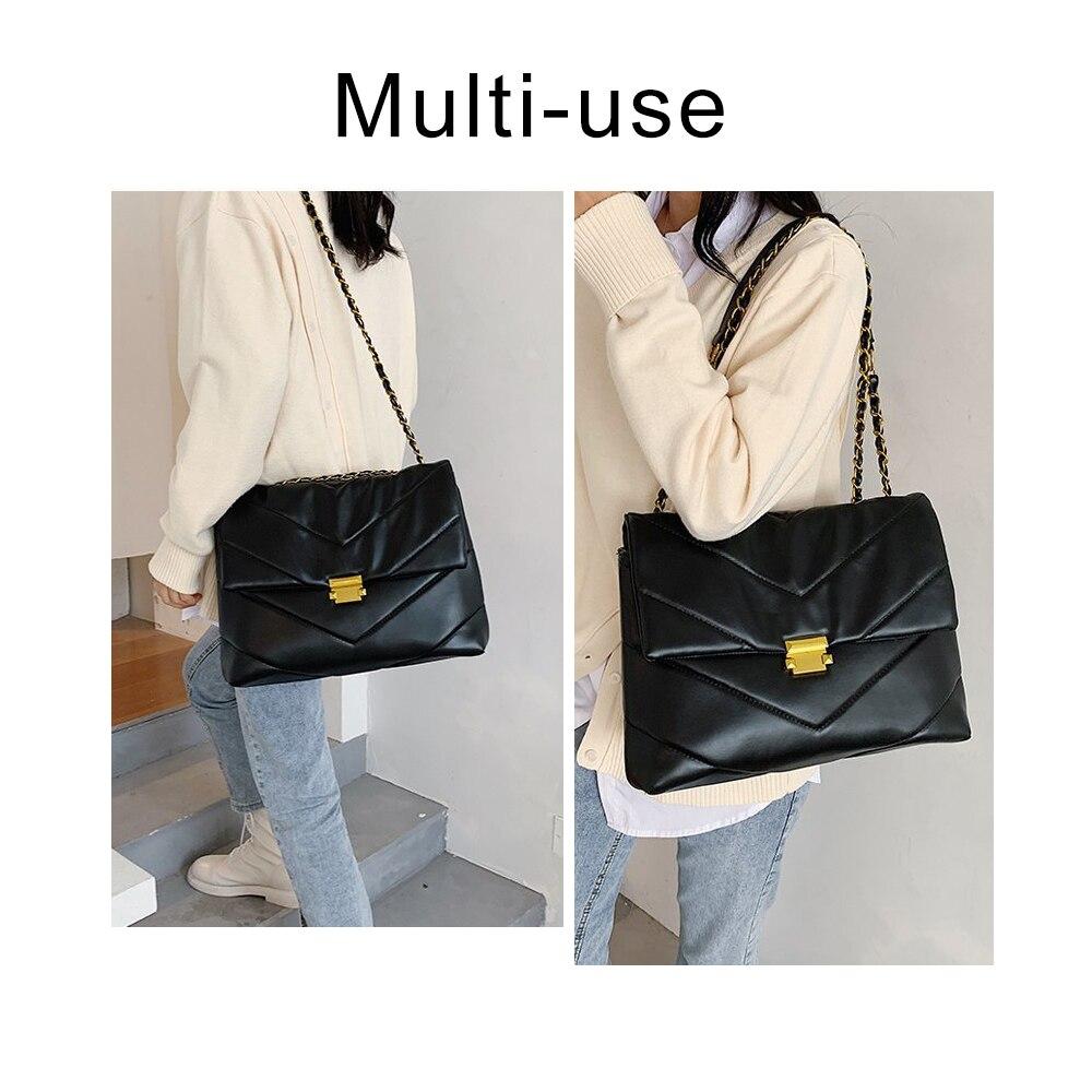 Женские сумки через плечо из искусственной кожи высокой емкости