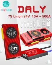 DALY – panneau de Protection pour batterie Lithium Li-ion 7S 24V, pour Scooter et voiture solaire 18650, Lipo BMS 15a 30a 50a 60a 80a 100a 200a 250a