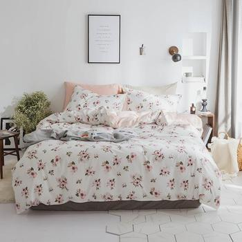 100%Cotton Twin Queen King size Bedding set for Kids and Adults Floral print Soft Duvet cover Bed sheet/linen set Pillowcases