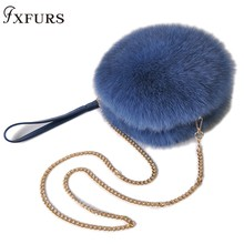 New 2019 Arrival Real Fur Bags Made By Whole Pieces Fox Women Luxury Handbag