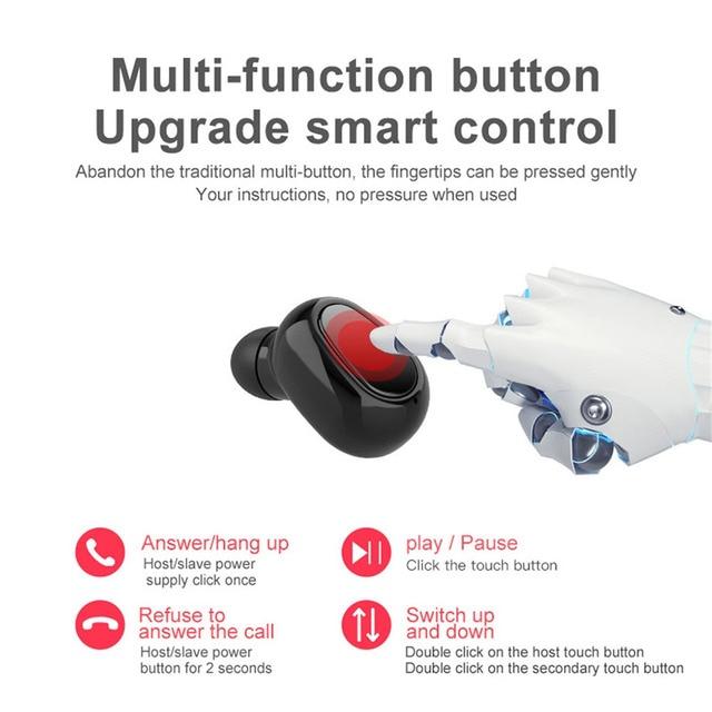 TWS Bluetooth 5.0, Bluetooth earphone,HIFI Sounds Wireless Headphones,Handsfree headset,Stereo gaming Headphones,For iphone 5