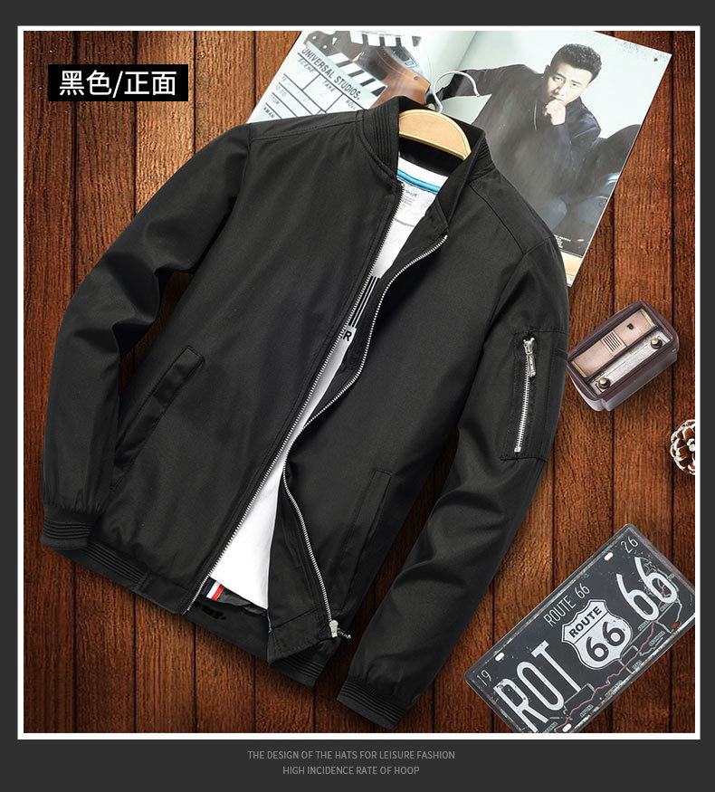 H80e840793c5341738449647b5e6adfbde 2019 new jacket loose men's bomber jacket men's casual hip hop baseball collar print fashion jacket smooth jacket streetwear