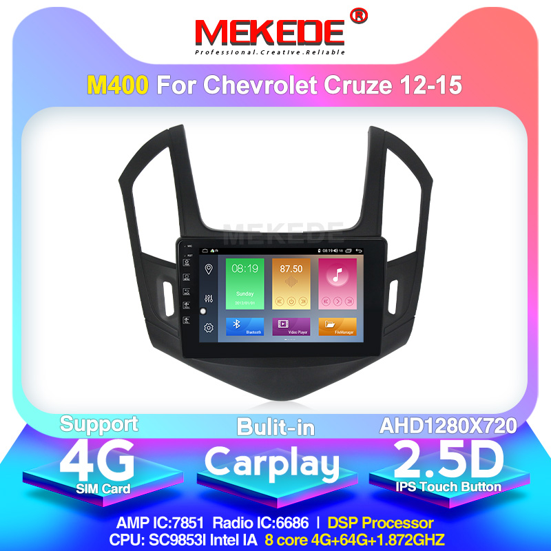 MEKEDE Android 10.0 4+64G DSP IPS Car Multimedia Player GPS For 2013-2015 Chevrolet Cruze Navi 2din Autoradio Support DVR CAMERA