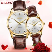 Leather Watch For Lovers Luxury Couple Watches