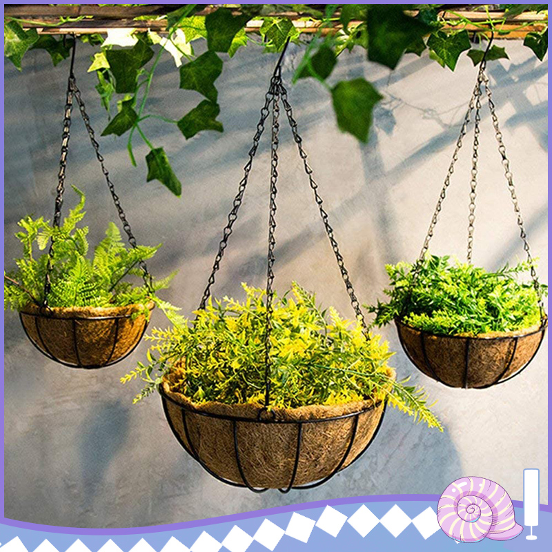 Home Garden Decoration 47cm Hanging Basket Chains Black Hanging Iron Sling Chain Chains Gondola For Hanging Flower Basket