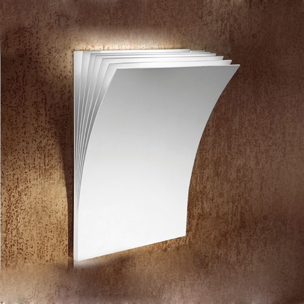 BOOK Style White Wall Lamp  Bathroom Art Lighting G4 Art