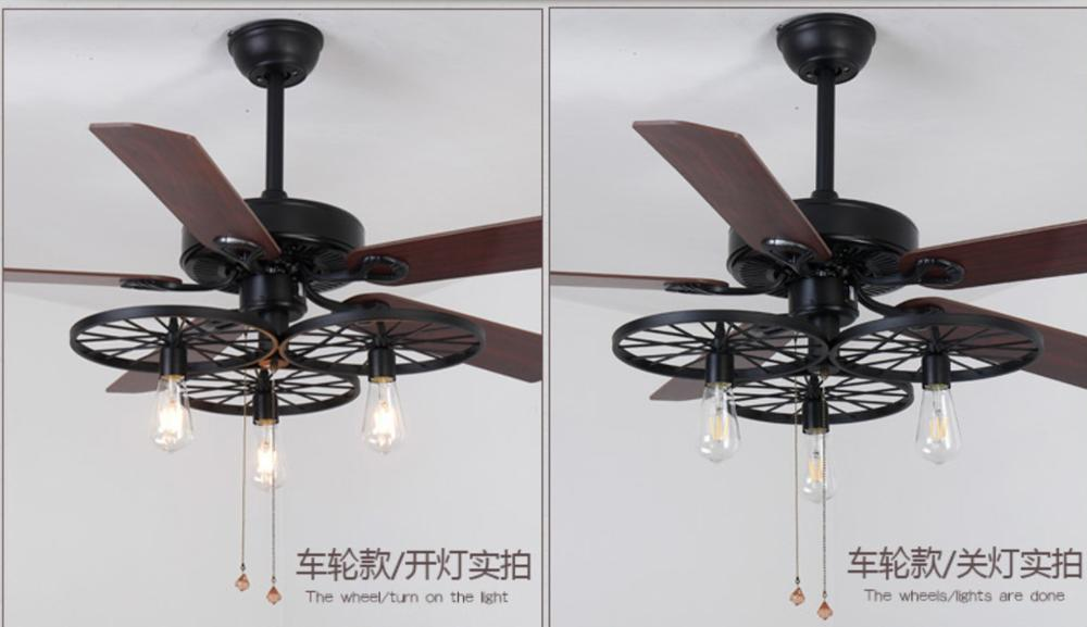 Industrial Look Ceiling Fan With Light 2021