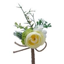 Роза цветы женихи жених бутоньерка корсажи свадьба мужские ручная работа брошь петля свадьба выпускной мужской костюм брошь цветы