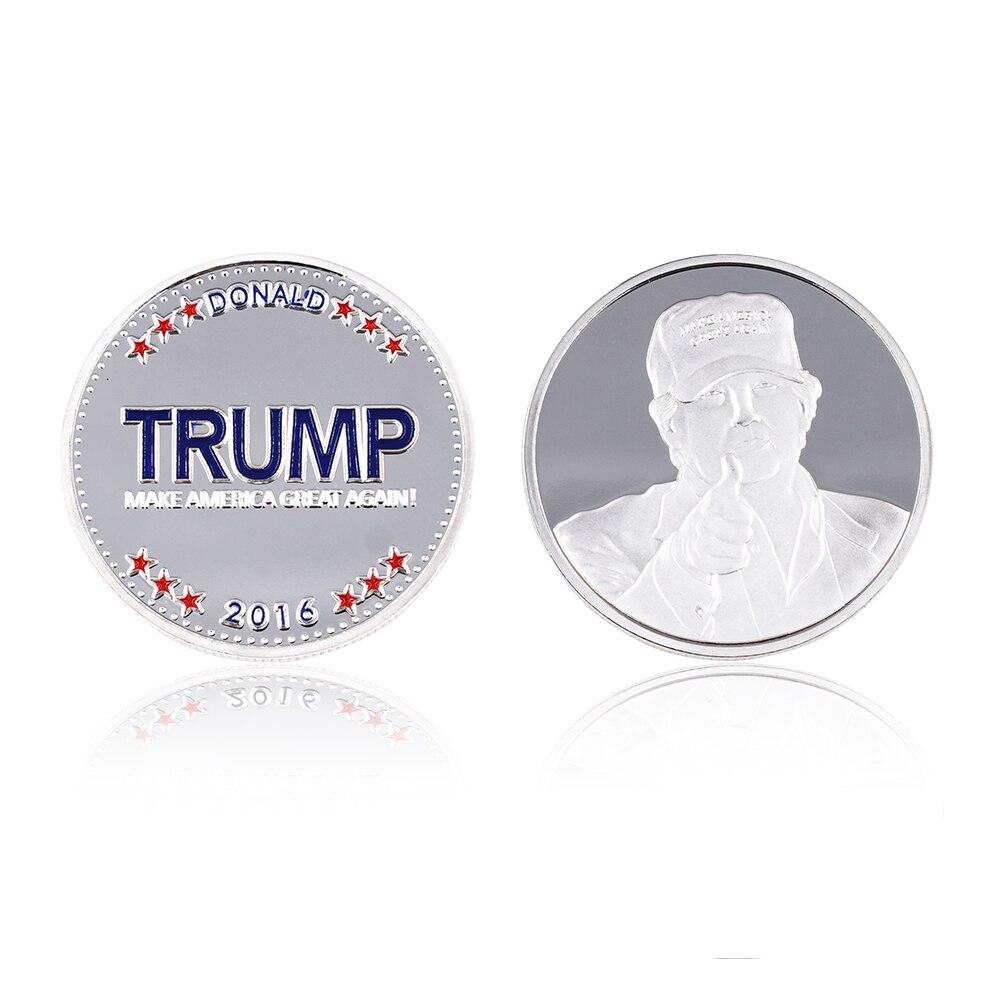 Venta caliente Trump Coin 24k Silver Plated Silver Coin The American - Decoración del hogar - foto 2