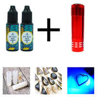hard uv resin Wholesale 3 Size DIY Fast Curing UV Clear Hard Resin For Making Jewelry Handicrafts epoxy resin