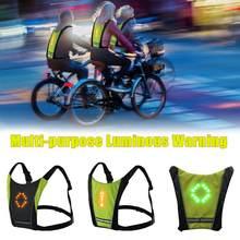 Neue LED Drahtlose radfahren weste 20L MTB Bike Tasche Sicherheit LED Blinker Licht Weste Fahrrad Reflektierende Warn Westen Mit fernbedienung