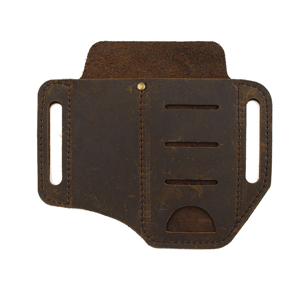 PU Leather Multitool Holder Essential Organizer Belt Pouch Pen Storage Bag Outdoor MD7