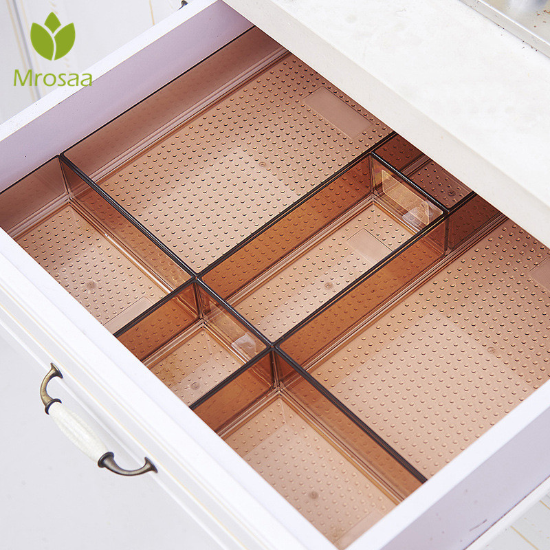 Drawer Style Make Up Storage Box Plastic Sundries Cosmetic Container Kitchen Cutlery Divider Case Desktop Sundries Organizer