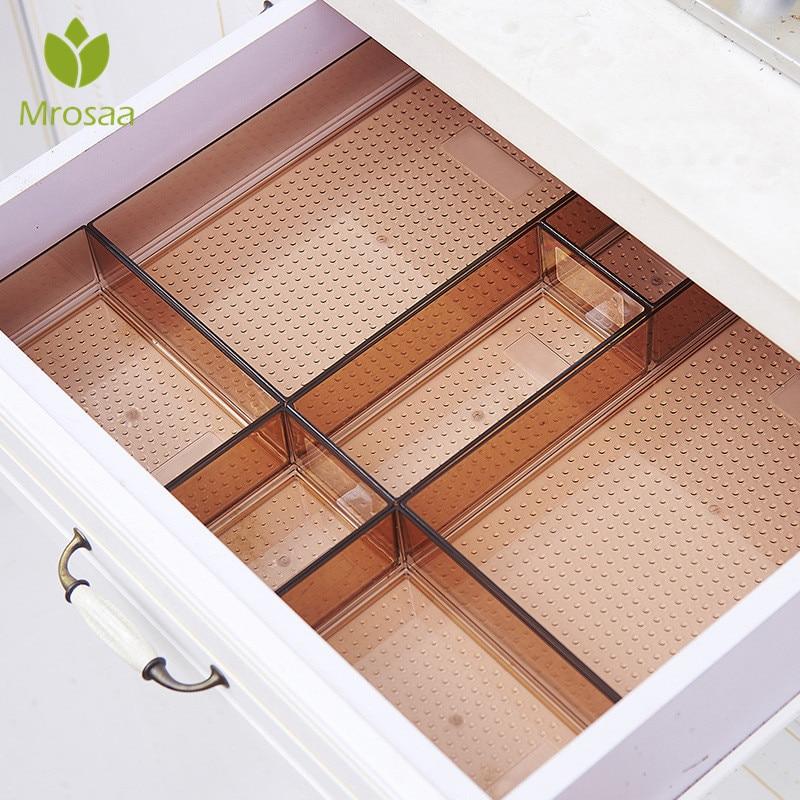 Drawer Style Make Up Storage Box Plastic Sundries Cosmetic Container Kitchen Cutlery Divider Case Desktop Sundries Organizer