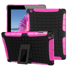 Tablet Case For Apple iPad 2/3/4 Cover Hybrid Armor Kickstand Hard Case For