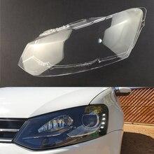 Osłona reflektora dla volkswagena VW Polo MK5 2011 2012 2013 reflektor samochodowy reflektor przezroczyste soczewki Auto Shell Cover