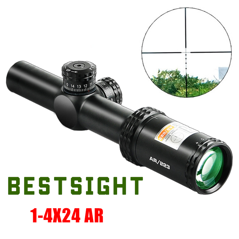1-4x24 AR Optics Drop Zone-223 Reticle Tactical Riflescope With Target Turrets Hunting Scopes For Sniper Rifle