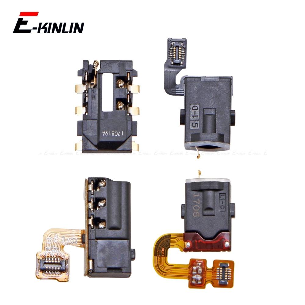 Ear Earphone Headphone Jack Audio Port Connector Flex Repair Parts For HuaWei Honor View 10 9 Lite I9 8X 8 Pro