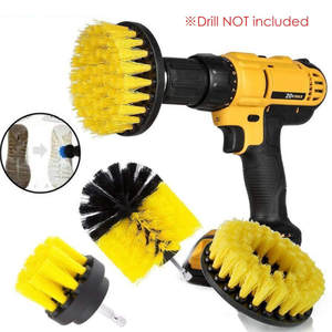 Electric-Drill-Brush-Kit Scrubber-Drill Carpet-Glass Nylon-Brushes Car-Tires Round Cleaning