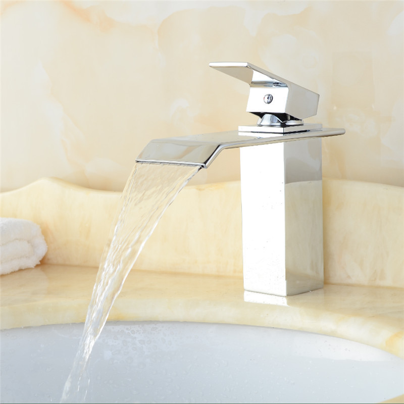 Manufacturers Direct Selling Copper Chute Bibcock Single Bore Hot And Cold Faucet Table-board Tap Sink Faucet