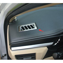 Stainless steel for Toyota corolla 2014 2015 car accessories Car front Air Condition outlet Vent frame cover trim for 2014 toyota corolla stainless steel window lift switch air condition ac vent reading light cover auto styling accessory