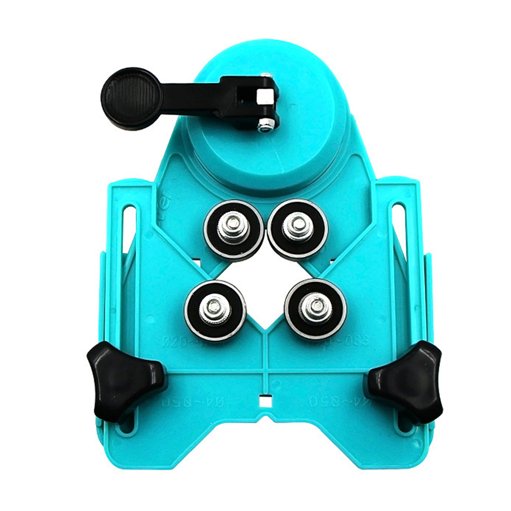 Tile Punch Locator Glass Marble Punch Holder Rubber Suction Cup Fixer Multi-Function Adjustable Hole Positioning Tool