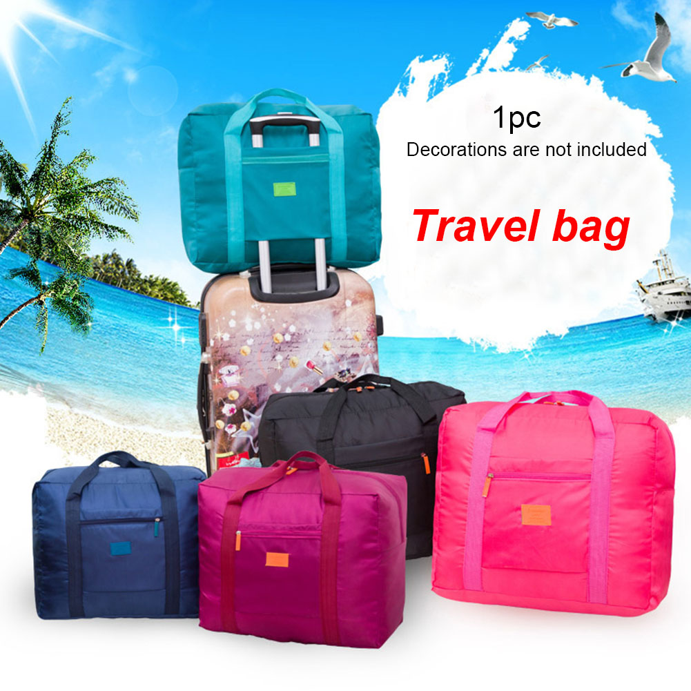 Large Capacity Duffle Luggage Handbag Tote Sports Multifunctional Travel Bag Wear Resistant Storage Suitcase Foldable Waterproof