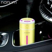 Novo Mini luz Colorida umidificador de Óleo Essencial Difusor de Aroma Lâmpada LED Night Light USB Ultrasonic Fogger Carro purificadores de ar