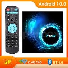 جديد T95 TVBox 2020 الروبوت 10 H.265 6K التلفزيون مربع الروبوت 10.0 2GB 16GB تعيين كبار مربع 2.4GHz Wifi Allwinner H616 1080P 4g 64gb 32gb