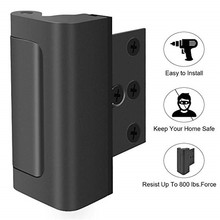 White Aluminium Alloy U Door Reinforcement Lock 3Defender Security Home Child Proof Stopper