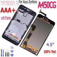 WEIDA para Asus Zenfone 4 A450CG T00Q pantalla LCD MONTAJE DE digitalizador con pantalla táctil marco 4,5 pulgadas reemplazo negro con herramientas