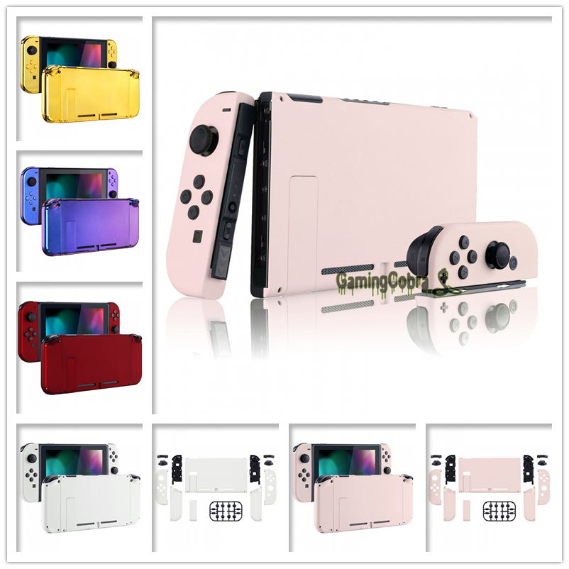 Custom Console Back Plate With Controller Housing Shell Case With Full Set Buttons For Nintendo Switch