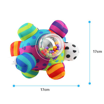 Baby Toys Fun Little Loud Bell Baby Ball Rattles Toy Develop Baby Intelligence Grasping Toy HandBell Rattle Toys For Baby/Infant 2