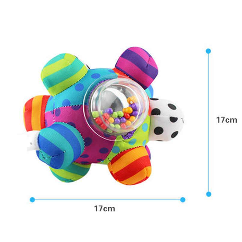 Mainan Bayi Menyenangkan Keras Bell Bola Bayi Mainan Kerincingan Mainan Mengembangkan Bayi Kecerdasan Menggenggam Mainan HandBell Rattle Mainan untuk Bayi bayi