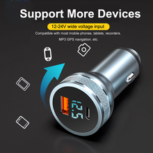 All Metal Dual USB Car Charger 24W 3.1 QC3.0 Fast C