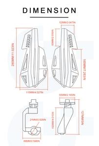Image 5 - Hand guard motorcycle protection Motocross Shock absorb motorbike handguards For Honda CB 1300F MSX125 X4 GROM/MSX125 CBR600RR