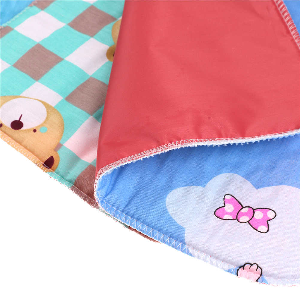 35cm * 25cm 아이 면화 방수 통기성 침구 변경 커버 패드 아기 유아 기저귀 기저귀 소변 매트