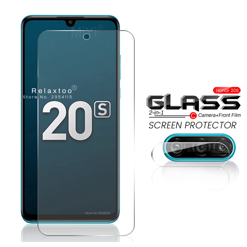 2-in-1 Camera Protective Glass On Honor 20s S20 20 S Screen Protector Honor20s Honor20 S Mar-lx1h 6.15'' Armored Tempered Film