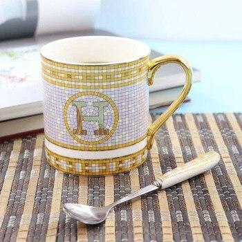Ceramics Coffee Cup European Coffee Mug Originality Bone China Golden Letters Black Tea Teacup Office Light Luxuries Tazas Copos