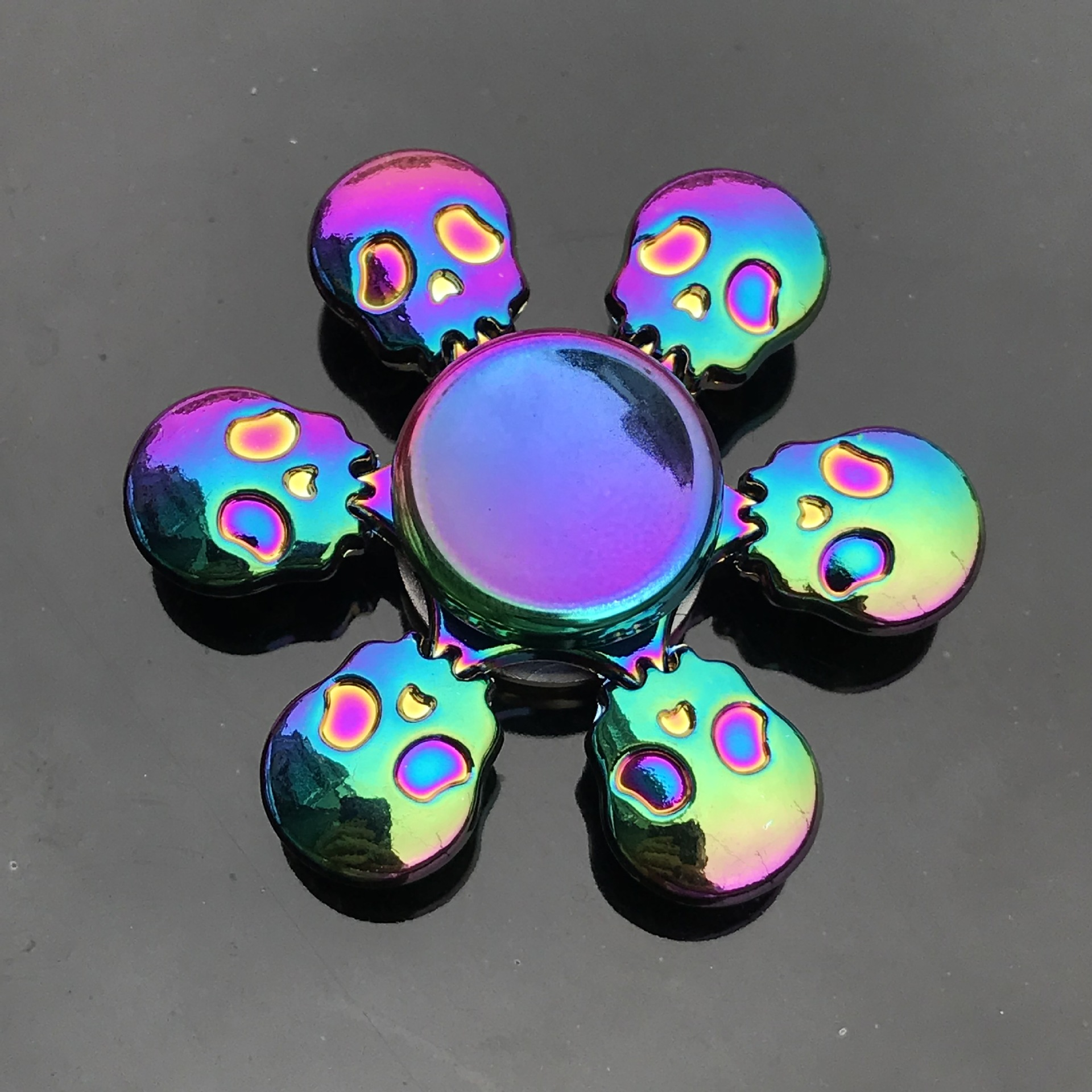 Fidget Spinner Gyro Anti-Anxiety-Toy Focus Relieves-Stress Hot-Wheels Colorful New img3