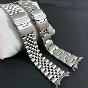 Image 2 - 22 mm נירוסטה להקת שעון צמידי מעוקל סוף החלפה עבור Seiko SKX007 SKX009 SKX011 DIY להחליף רצועת השעון