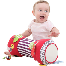 Newborn Baby Fitness Toys Baby Roller Soft Stuffed Multi-function Crawling Roller Pillow with Apple Pattern