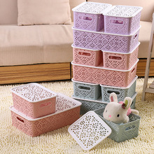 Wholesale 5PCS Hollow Underwear Storage Box Drawer Plastic Sock Bra Kids Toys Clothes Basket Kitchen Living Organization B0016