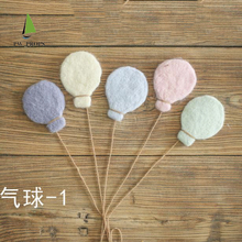 Balloon-Props Newborn-Posing Stars-Set Christmas-Accessories Moon Wool-Felt Handmade