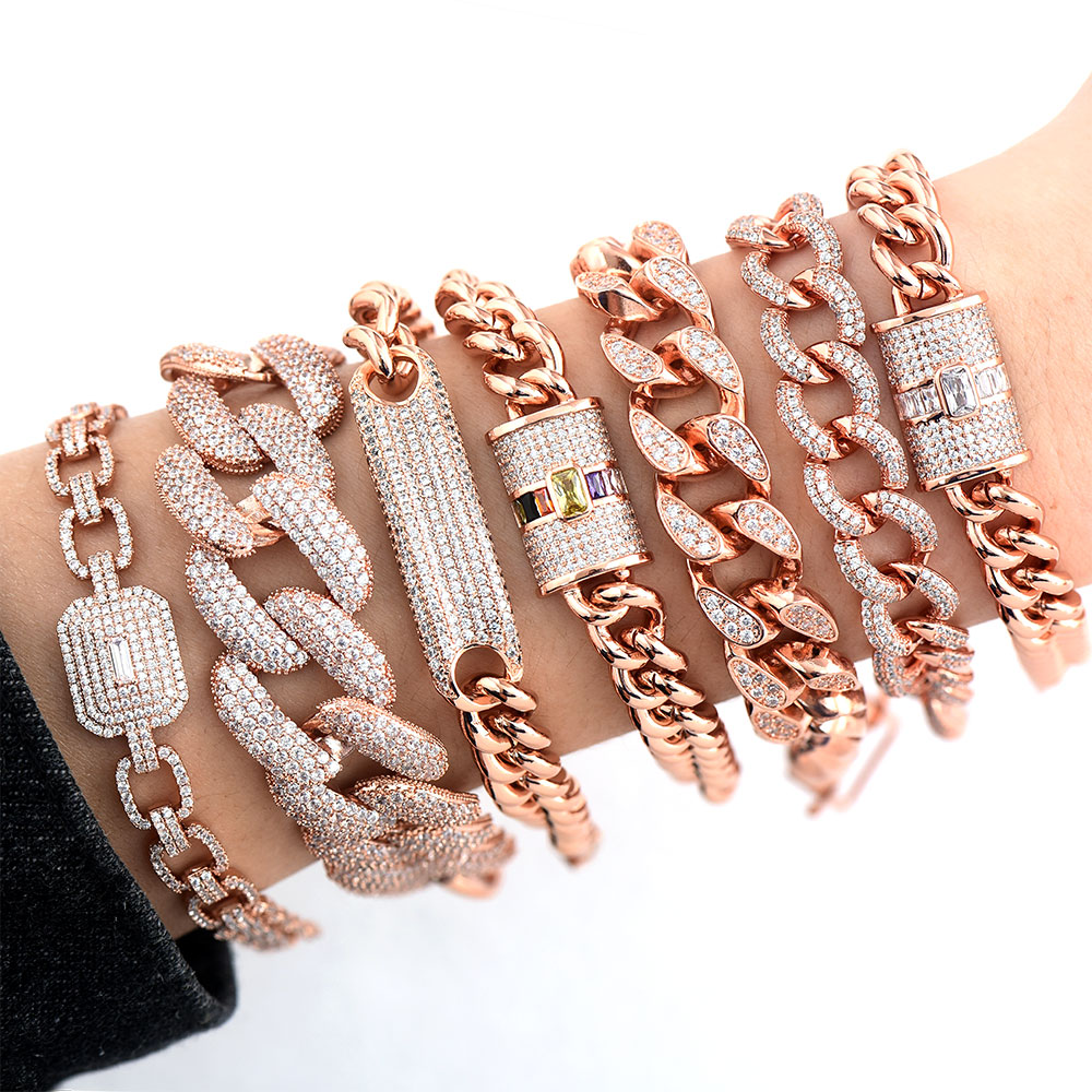 Image 3 - GODKI Luxury Chunky Link Bracelet For Women Wedding Full Cubic Zircon Crystal CZ Dubai Silver Bracelet Party Jewelry 2020Bangles   -