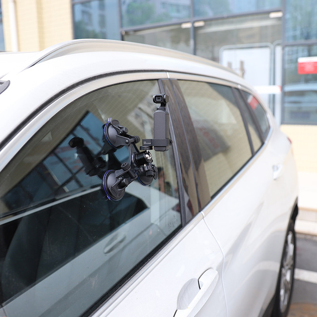 Triple cup camera suction mount w/ball head for insta360 one x/x2 yi 4k/sony/suction cup car holder window mount accessory