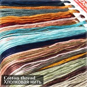 Image 5 - New DMC DIY Chinese Cross Stitch Kits Embroidery Needlework Sets Landscape Painting Printed Patterns Needlework Home Decoration