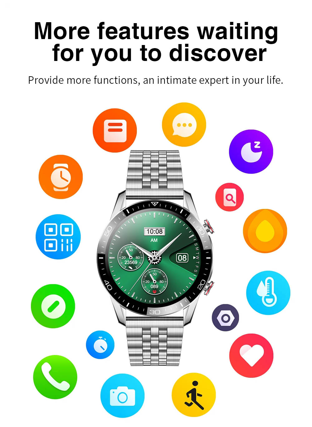H80eb85608f8e4a5daa4eb240da1804d1L TK2-8 Smart Watch For Men Bluetooth Call IP68 Waterproof Blood Pressure Heart Rate Monitor New SmartWatch Sports Fitness Tracker
